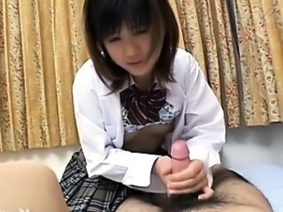 Japanese princess gives a blowjob