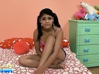 Latina Babysitter Pigtail Caught Caught Teen Latina Teen