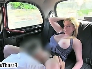 MILF amateur offered money for sex by her taxi driver