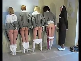 Nun Spanks Schoolgirls