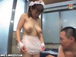 Asian maid lets her tits be smothered Sex Tubes