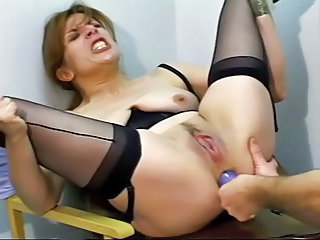 Astounding Mature Dildoed And Fucked