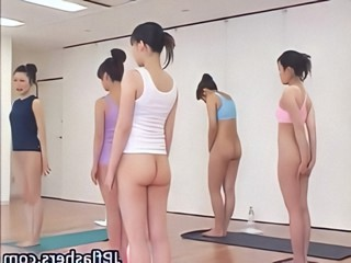 Japanese chicks practicing Asian nude...