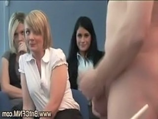 Laughing Office Girls Watch And Suck...