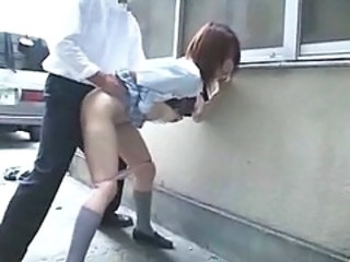 Student Doggystyle Clothed Asian Teen Bus + Asian Bus + Public