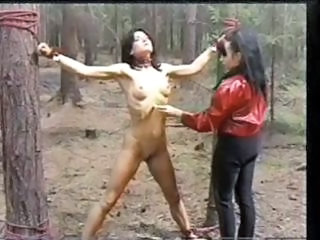 Out In The Woods A Slave Girl Is Punished For Disobedience
