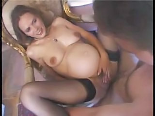 Pregnant French Footjob