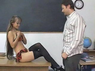 Long Hair Teacher Amazing School Teacher Stockings Teacher Asian