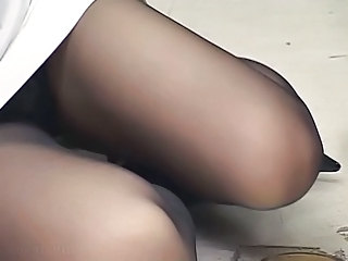 Stockings Legs Feet Foot Footjob Handjob Cumshot