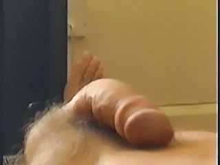 Close Up Pov Of Skinny Guy Jerking With Big Cumshot