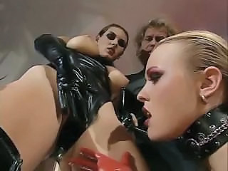 Amazing Fetish Latex Milf Threesome Threesome Milf