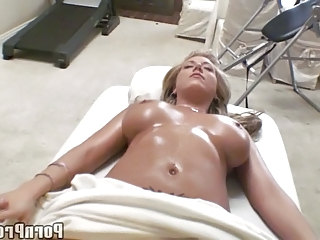 Busty Blonde Teen Tit Massage