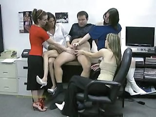 Four Ladies From A Jerking Corporation Pleasures Another Man