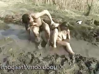 Granny Wants To Take Mud Wrestling To A New High With A Hard Dick