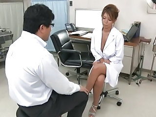 Doctor  Uniform Asian Cumshot Bus + Asian Cumshot Tits