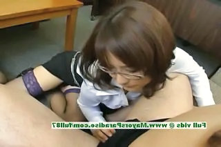 Glasses Stockings Teacher Handjob Asian Innocent Milf Asian