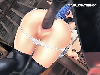 Anime School Sex With Monster Cock And Dripping Cunt