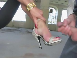 Cumshot Feet Fetish High Heels