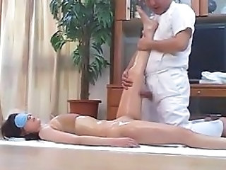Horny Japanese Wives Massaged and then Fucked at Home...