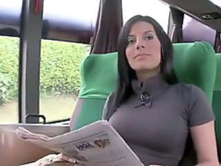 Bus Spanish Public Amazing Brunette  Bus + Public Public