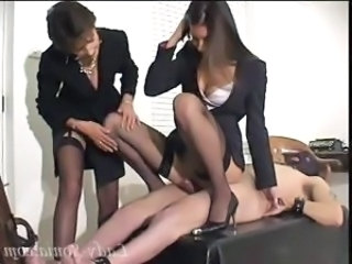 Fetish Ladies Playing With A Cock