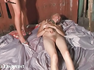 Teen bondage slaves lesbian domination of cute blonde babe