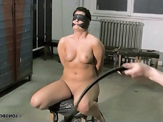 Brutal whipped plastic blindfolded and gagged Irish