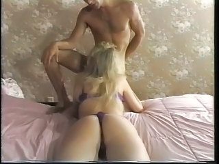 Blonde deepthroats cock before pussy and ass fuck