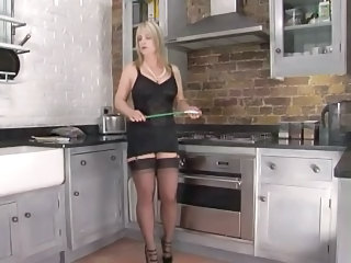 Femdom Kitchen Stockings