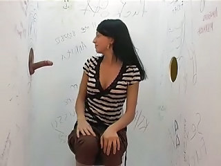 hot bitch in gloryhole action