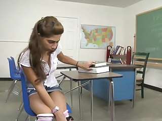 schoolgirl fucks the janitor