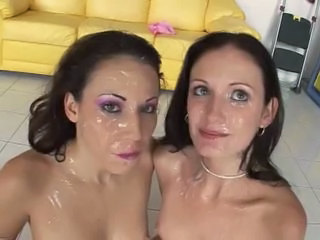 Two nasty bukkake sluts