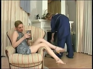 Russian Lady and cleaner (boy)