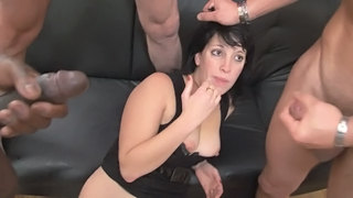 Hot Gangbang With French Chick 2