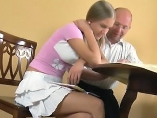 Skirt Student Teacher Dad Teen Daddy Old And Young