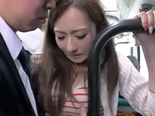 Young Woman taking the Bus 1of4 censored ctoan