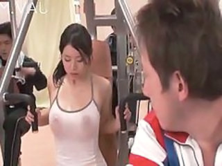 Sport Japanese  Boobs Gym Japanese Milf