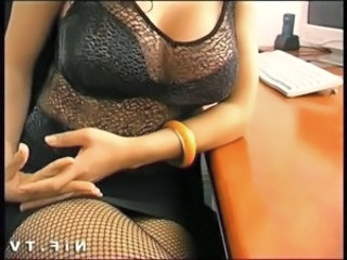 French brunette fucked on the desk free