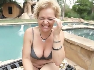 Pool Mom Lingerie Lingerie Outdoor Outdoor Mature