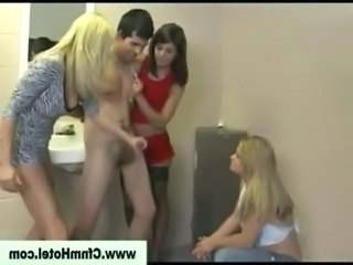 Young man humiliated in the women toilet free