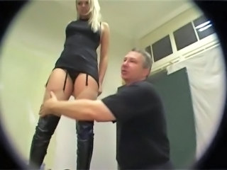 Pissing German German Blonde