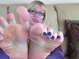 Foot close up tease