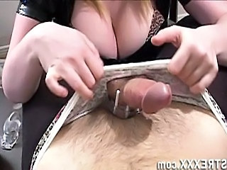 Video from: empflix | Femdom Handjob Chastity Tease and Denial