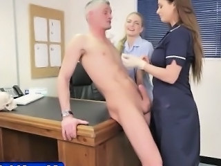 Fetishy nurses milk loser patient