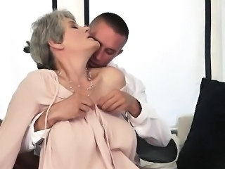 hot granny and her new younger lover