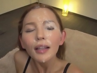 Japanese Babe Earns 5 Simultaneous Facials