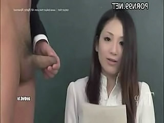 Tokyo babe gets a better lesson when she sucks and gets fucked