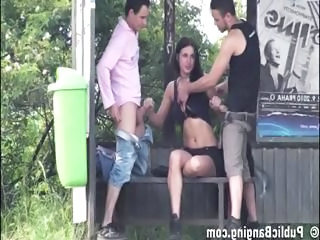 Clothed Handjob Outdoor Bus + Public Bus + Teen Extreme Teen