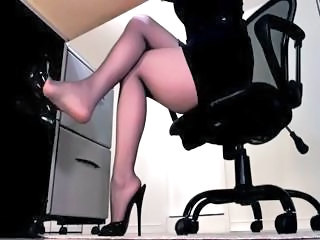 Feet Fetish Legs Office Pantyhose Secretary TOE Pantyhose Outdoor Amateur Webcam Asian