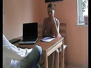 Casting  Office Boss Interview Milf Office